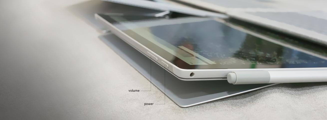 دکمه ولوم و دکمه پاور لب تاپ surface pro 2017