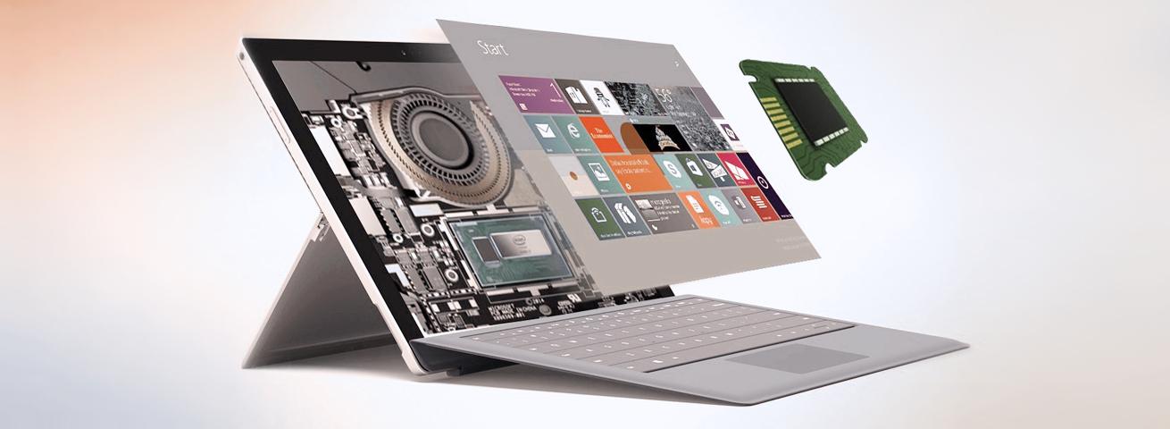 عملکرد قوی لب تاپ surface pro 2017