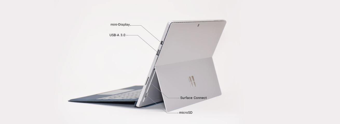 پورت های لب تاپ Surface Pro 5