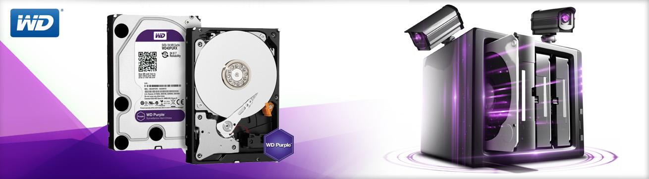 هارد دیسک اینترنال Western Digital سری بنفش با ظرفیت 1 ترابایت