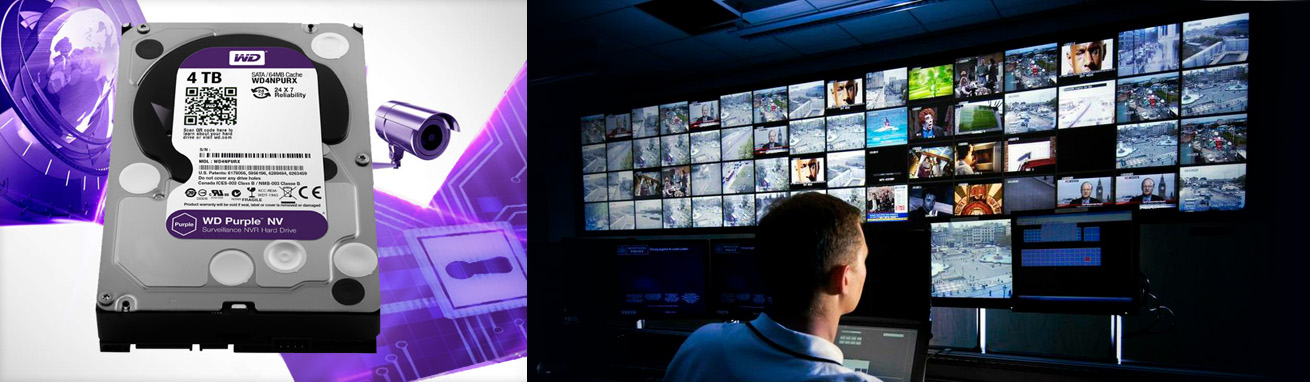 مجهز به فناوری ALLFrameهارد دیسک اینترنال Western Digital سری بنفش