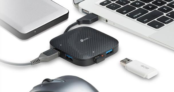 عدم نیاز به درایور هاب USB 3.0 تی پی لینک UH400
