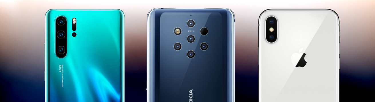 مقایسه دوربین گوشی های Nokia 9 PureView ، P30 Pro و iPhone XS