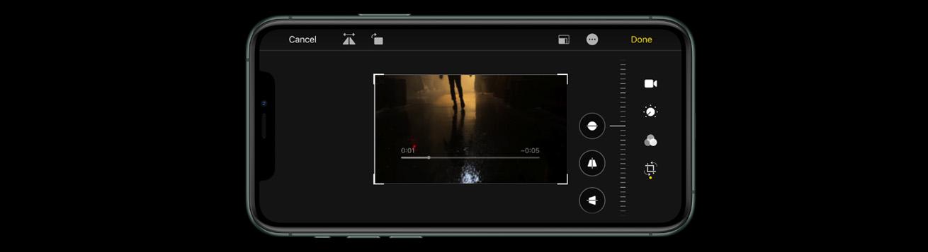 ضبط ویدئوهای 4K موبایل اپل مدل آیفون 11Pro Max