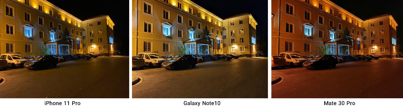 مقایسه عملکرد دوربین اصلی در نور کم