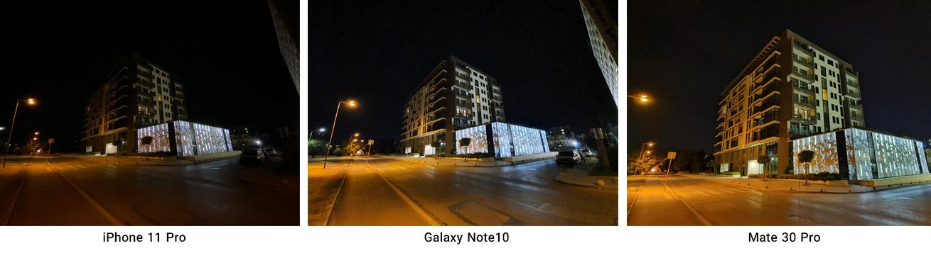 مقایسه عملکرد دوربین واید در نور کم