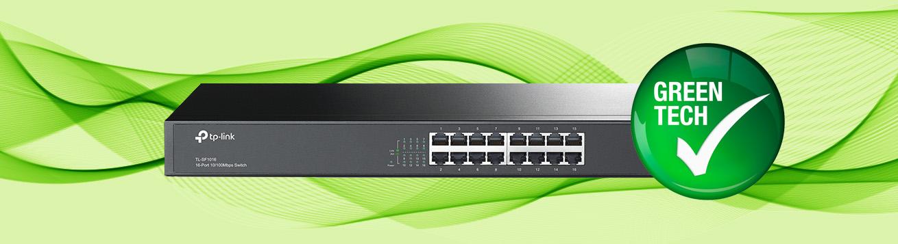 بهره گیری سوییچ تی پی لینک TL-SF1016 از تکنولوژی سبز