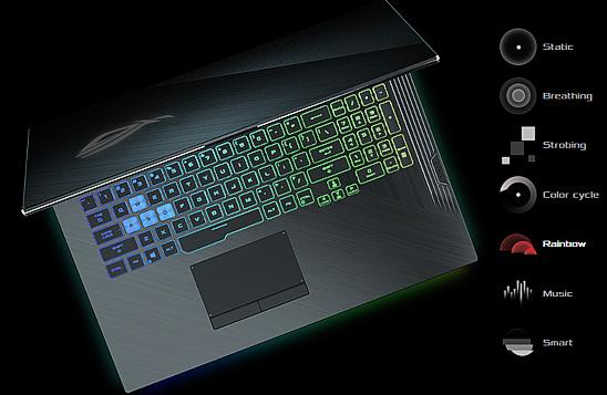 لپ تاپ گیمینگ ایسوس ROG STRIX G531GT با نورپردازی Aura