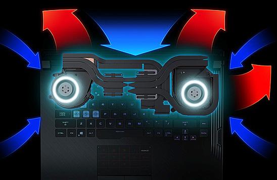 لپ تاپ گیمینگ ایسوس ROG STRIX G531GT با جریان هوای مناسب