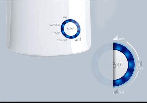 توسعه دهنده شبکه بی سیم تی پی لینک TL-WA850RE با نور شاخص سیگنال