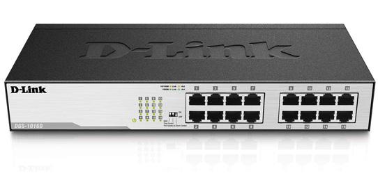 سوییچ دی لینک DGS-1016D با سرعت Gigabit Ethernet برای مشاغل مختلف