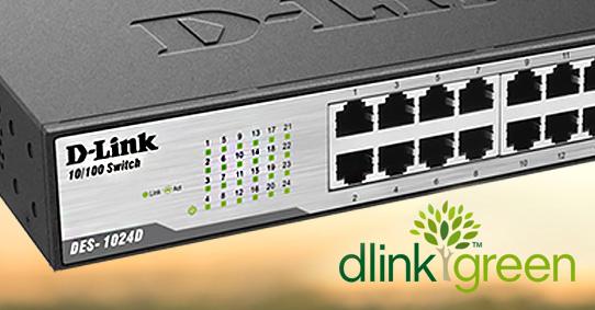 سوییچ دی لینک DES-1024D سازگار با محیط زیست