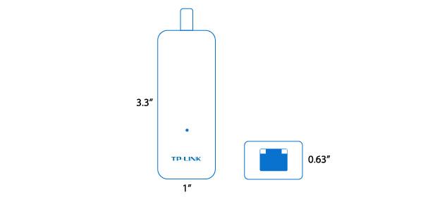 کارت شبکه تی پی لینک TL-UE300 با طراحی قابل حمل و کوچک