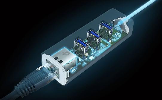 هاب یو اس بی 3 تی پی لینک UE330 با پایداری و سازگاری پیشرفته