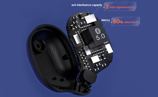 کنترل گیمینگ سریع و دقیق در هدست تو گوشی بی سیم بلوتوثی شیائومی هایلو T15