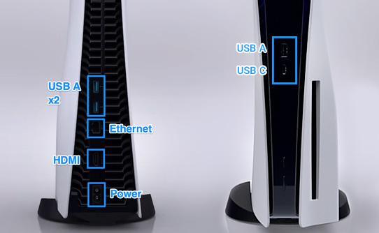 کنسول بازی سونی PS5 ظرفیت 1 ترابایت با اتصالات کاربردی