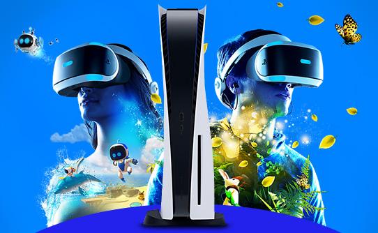 کنسول بازی سونی PS5 ظرفیت 1 ترابایت مجهز به PlayStation VR