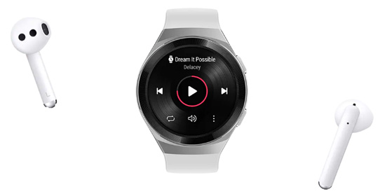 لذت شنیدن موزیک با ساعت مچی هوشمند هواوی Watch GT 2e