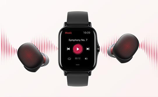 ذخیره و پخش موزیک با ساعت هوشمند شیائومی Amazfit GTS 2